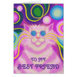 Psy-cat-delic P'ink 'Best Friend'  birthday card