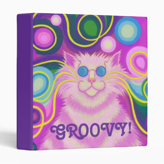 Psy-cat-delic Pink 'Groovy' binder