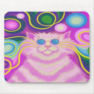 Psy-cat-delic Pink mousepad vertical