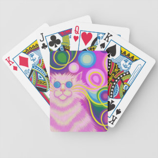 Psy-cat-delic Pink playing cards