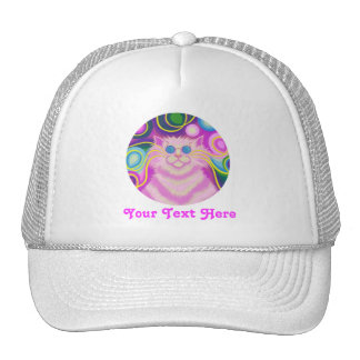 Psy-cat-delic Pink  'Your Text' trucker hat