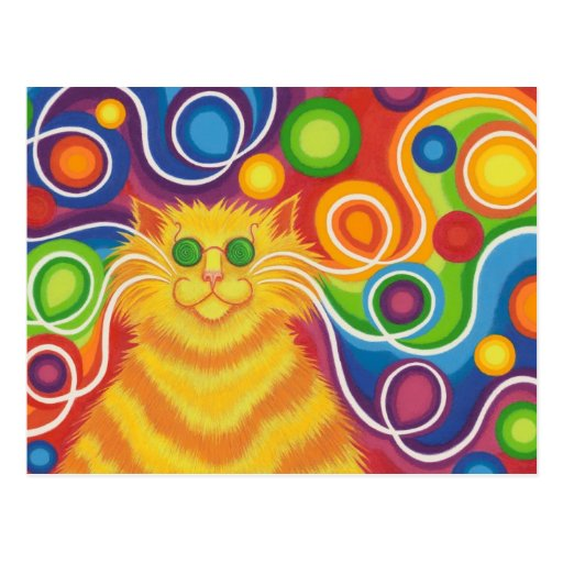 Psy-cat-delic postcard