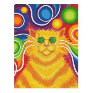 Psy-cat-delic postcard vertical