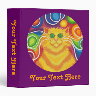 Psy-cat-delic purple 'Your Text' binder