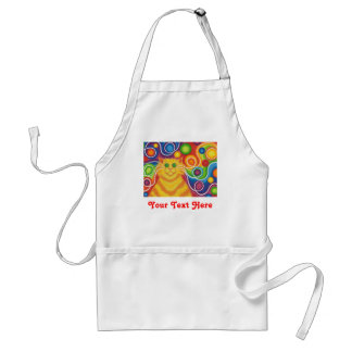 Psy-cat-delic 'Your Text' apron