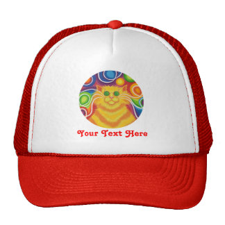 Psy-cat-delic 'Your Text' trucker hat