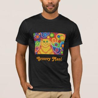 """'Psy-gato-delic """"hombre maravilloso!"""" camiseta"""