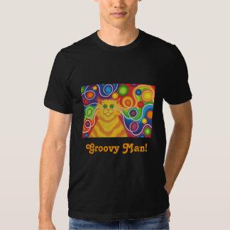 "'Psy-gato-delic ""hombre maravilloso!"" camiseta Playeras"