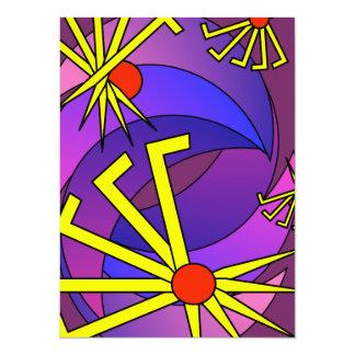 psy hippie tarantula peace earth lover kiss lgbt 5.5x7.5 paper invitation card