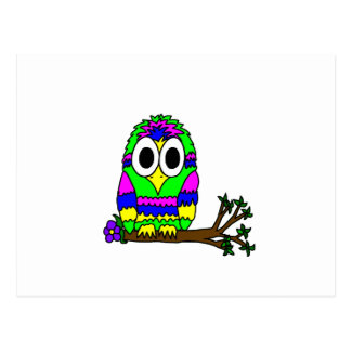 Psy Owl Postcard