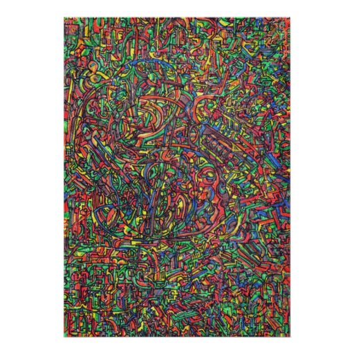psy trippy abstract texture artwork poster
