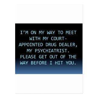 PSYCH DRUG DEALER POSTCARD