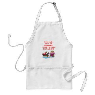 psych joke adult apron