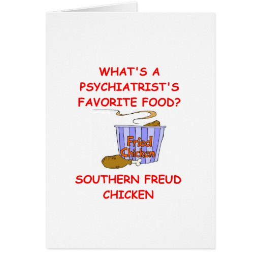 PSYCH joke Greeting Card