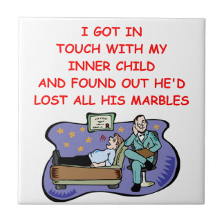 psych joke small square tile