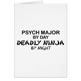 Psych Major Deadly Ninja Card