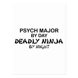 Psych Major Deadly Ninja Postcard