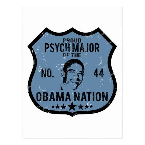 Psych Major Obama Nation Postcard