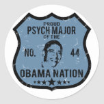 Psych Major Obama Nation Round Stickers