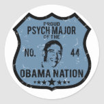 Psych Major Obama Nation Sticker
