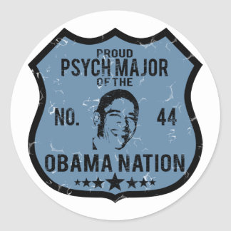 Psych Major Obama Nation Round Stickers