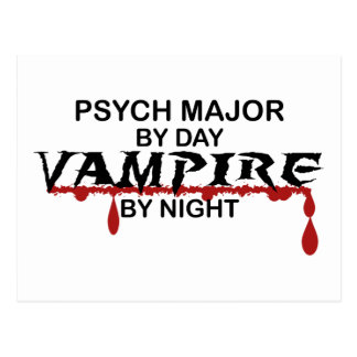 Psych Major Vampire by Night Postcard