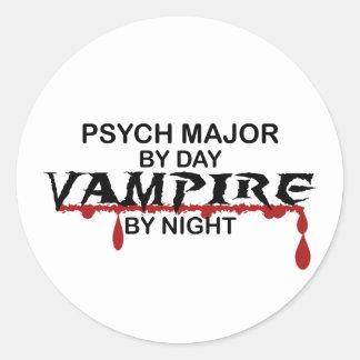 Psych Major Vampire by Night Sticker