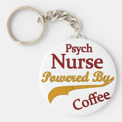 Psych Norse Powered By Coffee Keychain