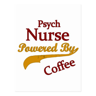 Psych Norse Powered By Coffee Postcard