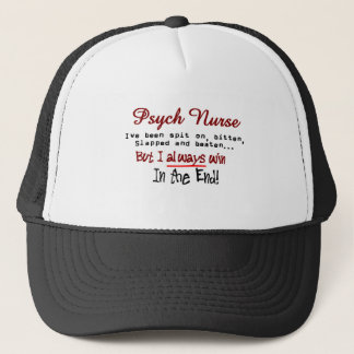 Psych Nurse Hilarious sayings Gifts Trucker Hat