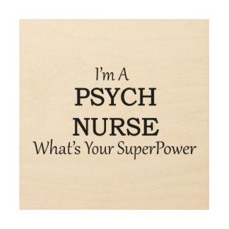 PSYCH NURSE WOOD WALL ART