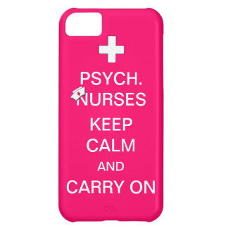 Psych Nurses Keep Calm /Bubble Gum Pink iPhone 5C Cover