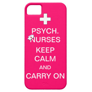 Psych Nurses Keep Calm /Bubble Gum Pink iPhone SE/5/5s Case