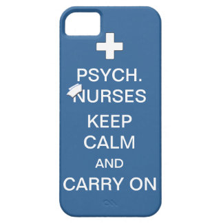 Psych Nurses Keep Calm /Summer Sky Blue iPhone SE/5/5s Case