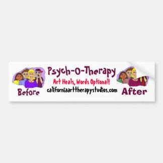 Psych-O-Therapy bumper sticker
