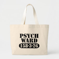Psych Ward Halloween Trick-or-treat Large Tote Bag at Zazzle