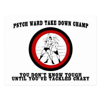 Psych Ward Take Down Champ Postcard