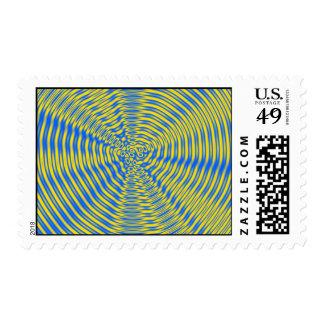 Psychadelic 1 postage stamp