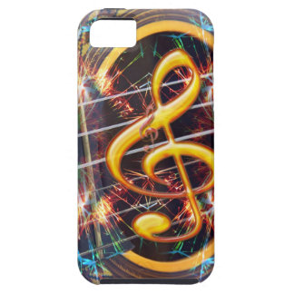 Psychadelic Accoustic Guitar, music sheet design iPhone 5 Covers