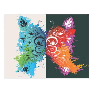 Psychadelic Butterfly Postcard
