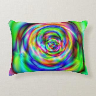 Psychadelic design accent pillow