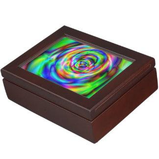 Psychadelic design memory box