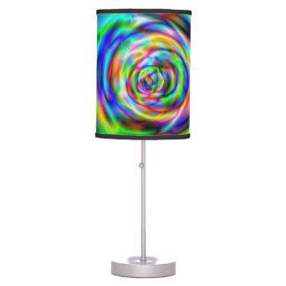 Psychadelic design table lamp