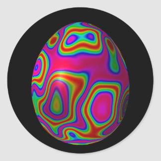 Psychadelic Easter Egg 5 Classic Round Sticker