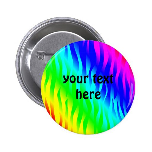 Psychadelic flaming rainbow colors buttons