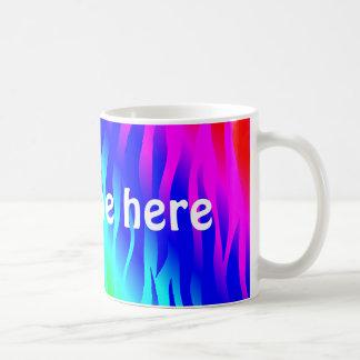 Psychadelic flaming rainbow colors classic white coffee mug
