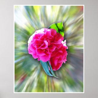 Psychadelic flower poster