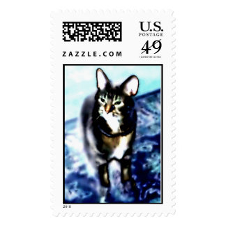Psychadelic Kitty Postage Stamps