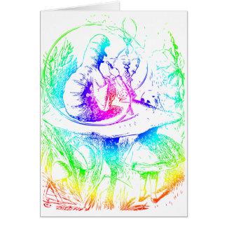 Psychadelic Mushroom Alice in Wonderland Card