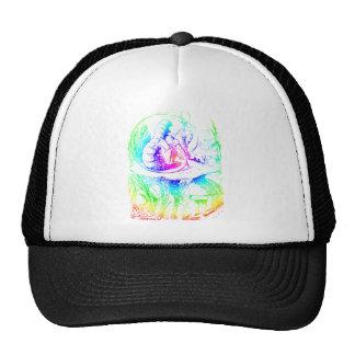 Psychadelic Mushroom Alice in Wonderland Trucker Hat